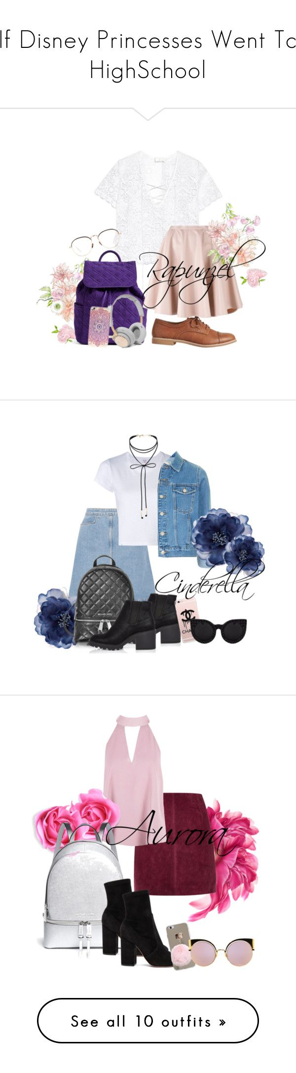 """If Disney Princesses Went To HighSchool"" by grraciie-386 on Polyvore featuring Miguelina, Vera Bradley, Gap, Giamba, B&O Play, Linda Farrow, M.i.h Jeans, RE/DONE, Topshop and Accessorize"