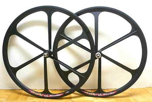 Fixed Gear Mag Wheelset 700c Rims Front & Rear Fixie Bike Single Speed- Black