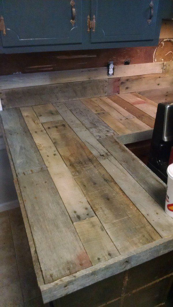 Pallet Countertops Backsplash Diy Decorating Countertops