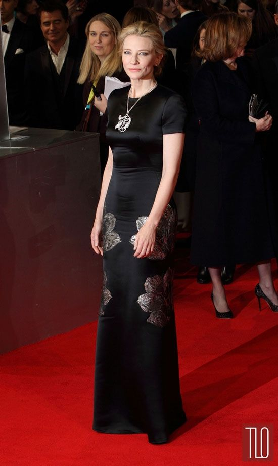 Cate Blanchett in Alexander McQueen at the 2014 BAFTA Awards | Tom + Lorenzo