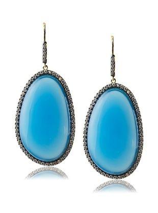 69% OFF CZ by Kenneth Jay Lane Sliced Drop Earrings