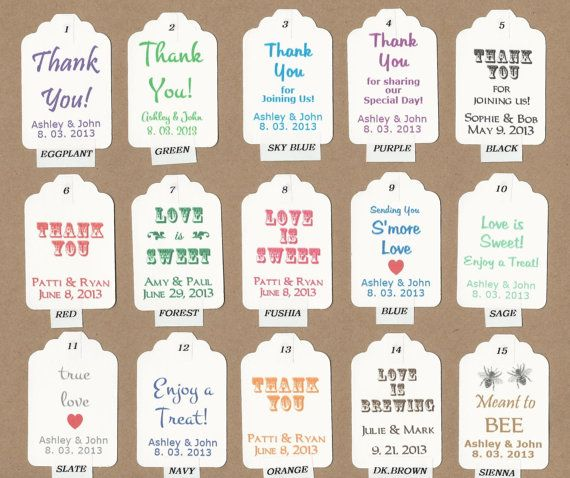 51 best images about wedding favor tags on Pinterest