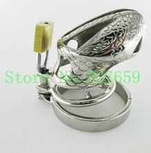 2015 Latest Design Stainless Steel Male Chastity Device Adult Cock Cage With Spike Ring Sex Toys Bondage Chastity Belt(China (Mainland))