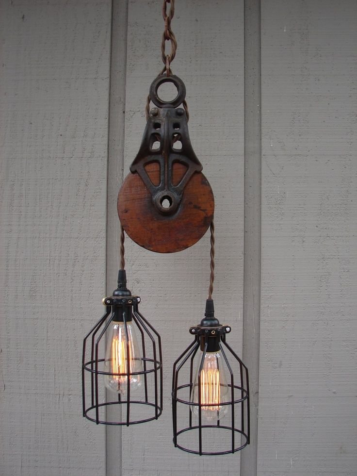 Industrial Pulley Pendant Lighting Ideas For Traditional Room With Spiral Cable Combine Black Iron Shade And Black Rubber Holder Featuring Old Chain of Captivating Pulley Light Fixture Design Ideas  Pulley Lamp Pulley Floor Lamps Warren Pulley Task Floor Lamp Pottery Barn Pulley Lamp Old Pulley Lights . 700x933 pixels                                                                                                                                                      More