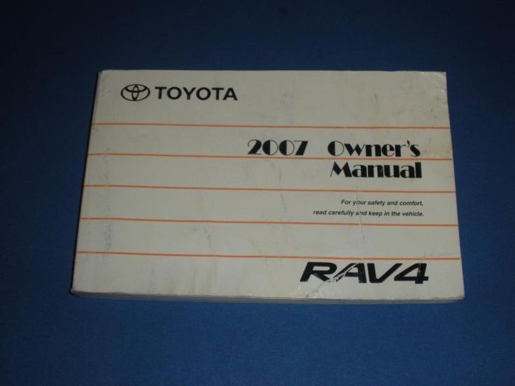 2007 toyota rav4 owners manual book guide owners manuals pinterest rh pinterest com 1999 Toyota 4Runner Lifted 2007 toyota 4runner owners manual