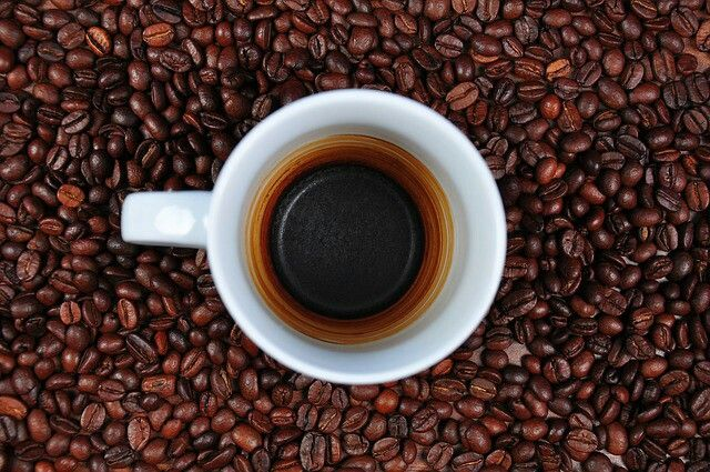 4. Coffee Coffee has caffeine which will boost your metabolism and give you energy to handle the day! The caffeine also helps with the breakdown of fat. A cup in the morning and one in the afternoon is a good plan!