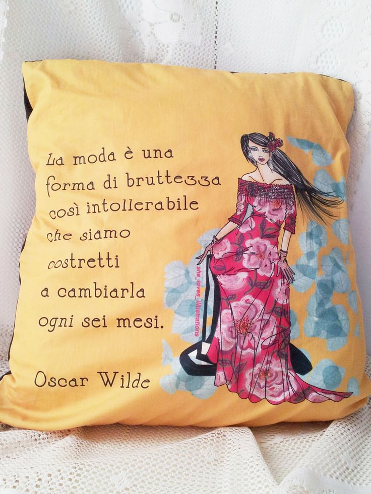 Federa per cuscino Oscar WIlde (La moda) : Tessili e tappeti di charlineshop
