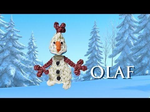 ▶ Making an Olaf Figure on the Rainbow Loom - YouTube