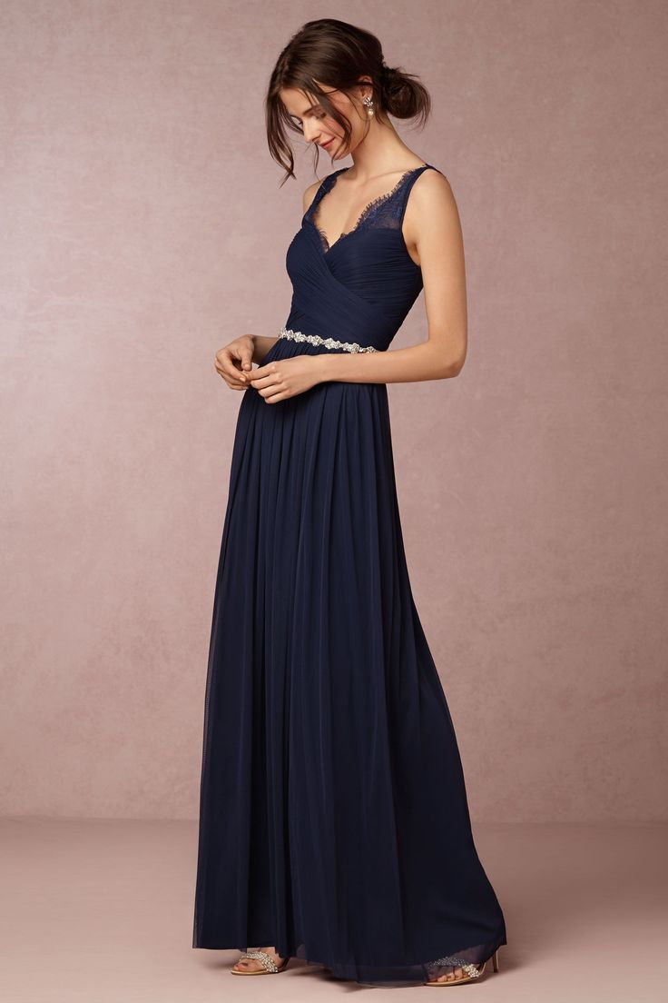 153 best navy blue bridesmaid dresses images on pinterest navy dresses for bridesmaids from bhldn fleur gown in navy blue ombrellifo Gallery