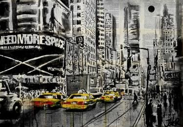 "Saatchi Art Artist Loui Jover; Drawing, ""new york moment"" #art"