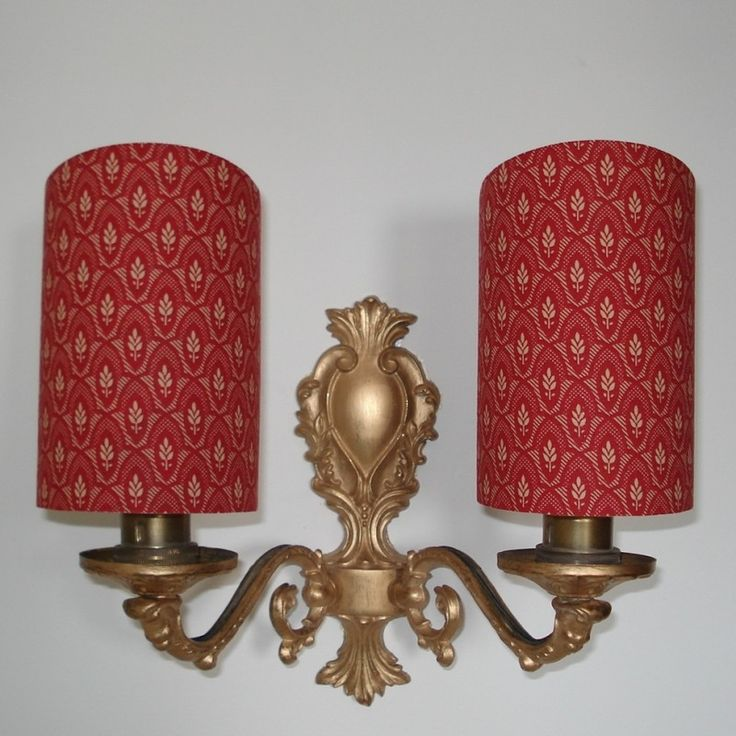 Candle Lamp Shades Shop: French General - Handmade, Candle Clip Half Shield Shade for Wall Lights. Lampshades  ShopLampshade ...,Lighting