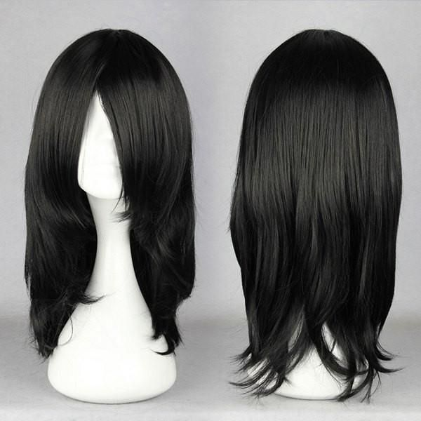17 Inches Black Wig For Anime Naruto Cosplay Figure Hyuga Neji Orochimaru Synthetic Costume Wig Cheap Human Hair Wigs Cosplay Hair Cheap Cosplay Wigs