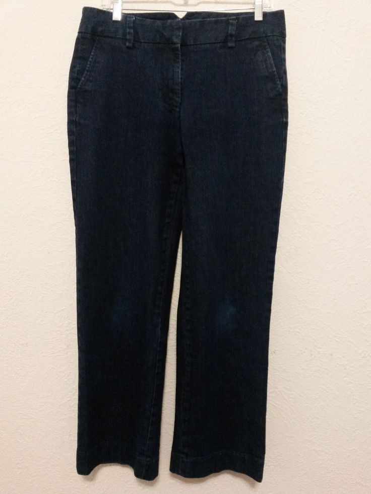 """Lands' End-  Women's Jeans -  Size 8 - Blue Straight Leg - 32"""" Waist - 29 1/2"""" Inseam #LandsEnd #StraightLeg  ..... Visit all of our online locations..... www.stores.eBay.com/variety-on-a-budget ..... www.amazon.com/shops/Variety-on-a-Budget ..... www.etsy.com/shop/VarietyonaBudget ..... www.bonanza.com/booths/VarietyonaBudget ..... www.facebook.com/VarietyonaBudgetOnlineShopping      http://www.stores.ebay.com/variety-on-a-budget"""