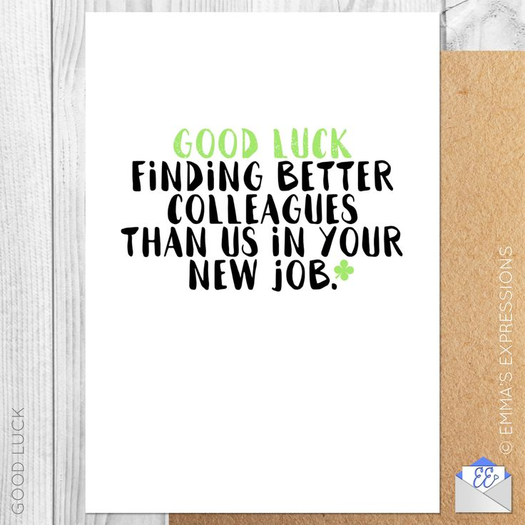 7 best good luck greeting cards images on pinterest greeting cards good luck finding better colleagues than us in your new job funny good luck leaving m4hsunfo
