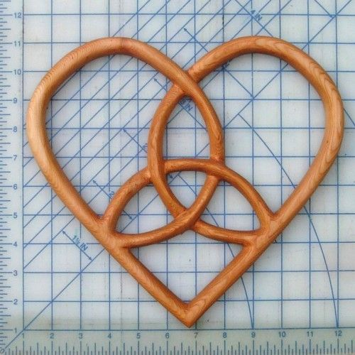 Trinity Heart Celtic Wood Carving - Hearts Belief - Holy Trinity