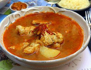la Bourride sétoise ~ Voisine de la bouillabaisse marseillaise, le poisson principal qui la compose est la lotte. En fin de cuisson, elle est liée avec de l'aïoli.