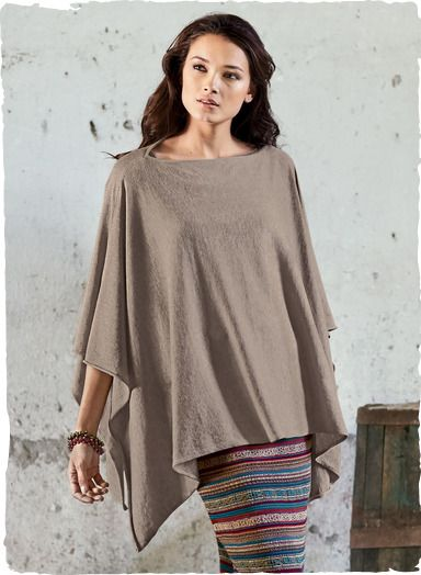 Quintessentially chic, the luxe poncho is light as a feather in fine gauge pima cotton. The rectangular shape can be worn as a boatneck or rotated to create a v-neck.