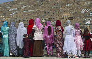 Kabul: Afghan women gather to celebrate the Iranian New Year. Photograph: Ahmad Masood/Reuters