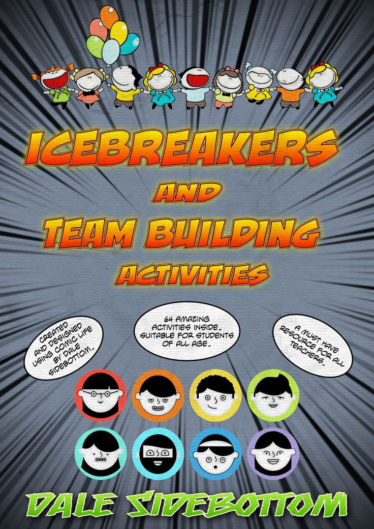 Ice Breakers and Team Building Activities  contains 64 icebreaker and team building activities. Icebreaker activities are used to welcome and warm up the conversation among students in a new class, meeting or new situation. $7.99! http://designedbyteachers.com.au/marketplace/icebreakers-and-team-building-activities/