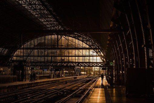 Estación, Pistas, Ferrocarril, Tren