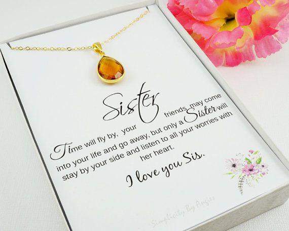 November Birthstone Necklace  Citrine  by SimplicityByAngies
