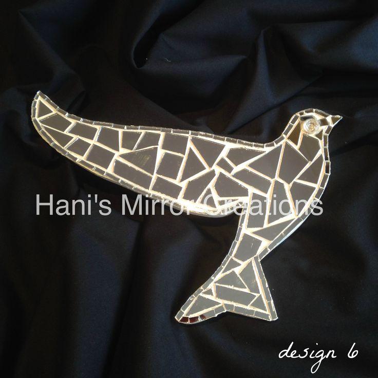 Mosaic Bird design 6 https://www.facebook.com/HanisMirrorCreations
