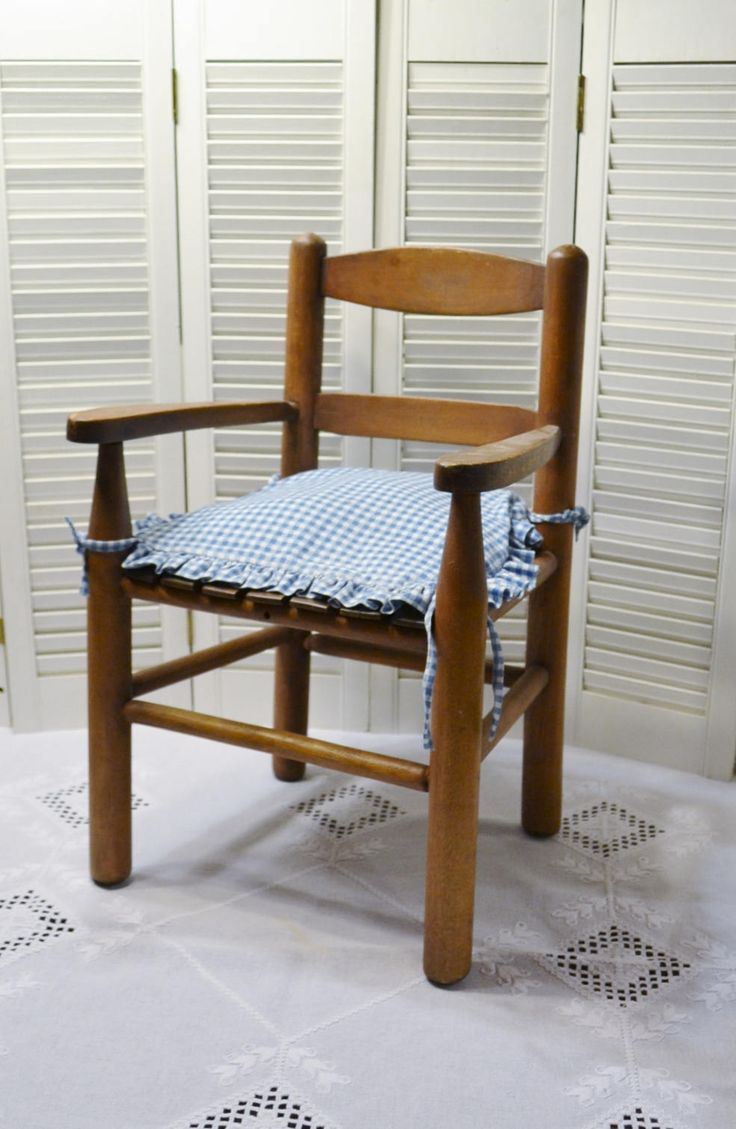 Vintage Childs Wood Slat Arm Chair Rustic Kids Furniture Childrens Time Out Chair PanchosPorch by PanchosPorch on Etsy