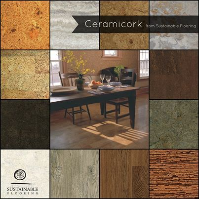 Our #Ceramicork product line is a great place to start when thinking about cork flooring. It gives you the durability of a ceramic finish with the sustainability factor and natural comfort of cork. #corkflooring