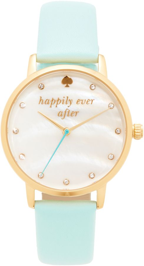 Kate Spade New York Bridal Capsule Leather Watch Mint watch Designer Style //affiliate//