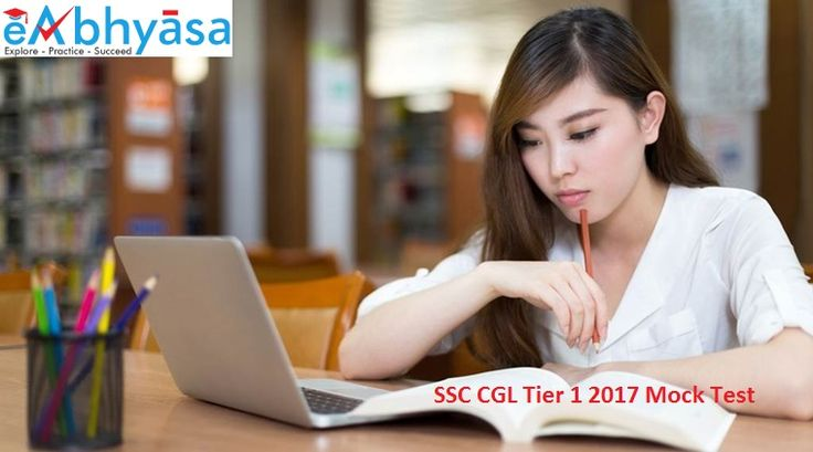 Complete #Online Preparation for #SSC-#CGL & others competitive exams with Tests Series, Question Papers with Solutions.  eAbhyasa conducting SSC CGL All india live Mock test. Any of the students who have applied for SSC CGL 2017 are elgible.  A #student can enroll for to take these online mock tests.   Practice Now: https://www.eabhyasa.com/mockexam/ssc-cgl/ssc-cgl-tier-1-mocktest