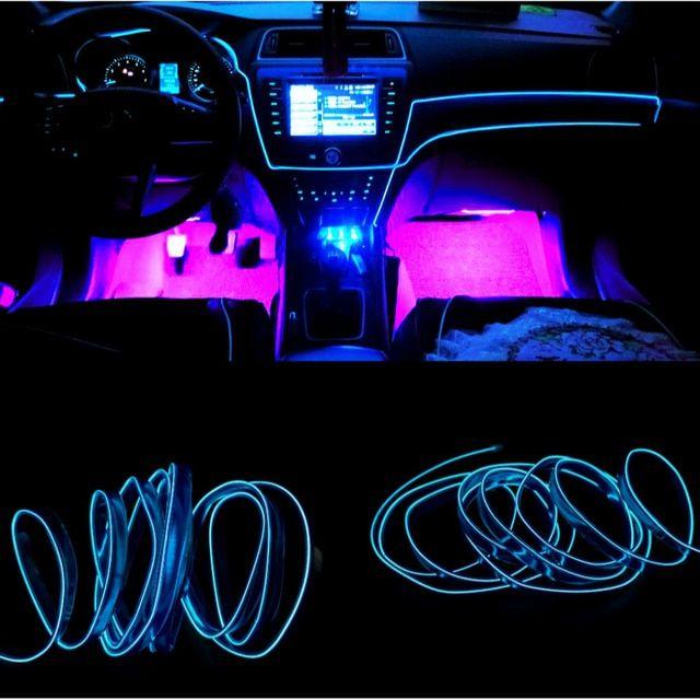 Jurus 1meter Auto Atmosphere Lamp Led Light For Light Car Interior Lights El Wire Ambient Light Line Decorative Interior Lighting Ambient Lighting Car Interior