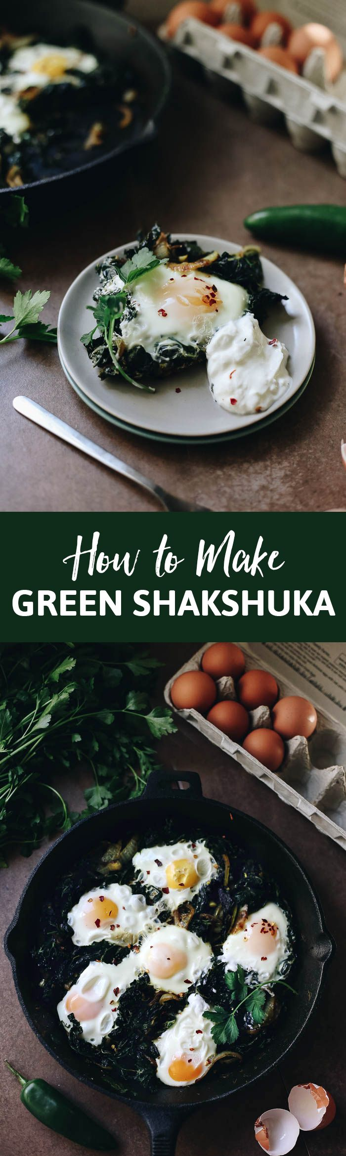 Inspired by my recent trip to Israel, this green shakshuka is packed full of leafy greens, fresh herbs and the garlicky poached eggs we all love in Shakshuka. The perfect recipe to change up your breakfast routine.