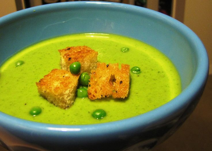 Soupruary: Creamy Green Pea Soup