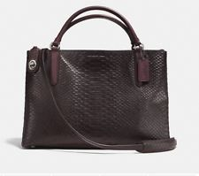 Coach borough bag - python embossed leather in oxblood