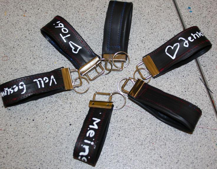 Schlüsselanhänger aus Fahrradschlauch - mit Anleitung