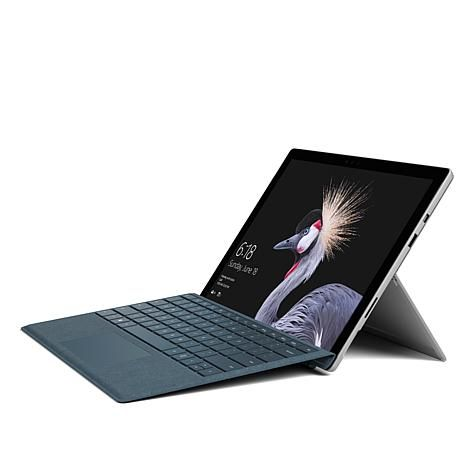 "Shop 2017 Microsoft Surface Pro 12.3"" HD, Intel Core i5 128GB Windows 10 Tablet with Type Cover, Office 365 and Services 8577972, read customer reviews and more at HSN.com."
