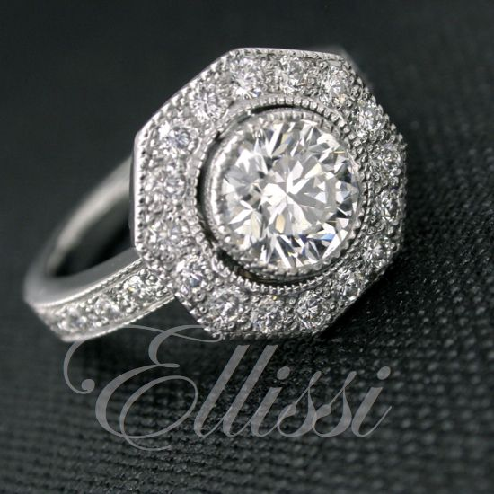 """The cut of the diamond produces a bright more brilliant diamond which is why it was given the name """"brilliant cut"""". #diamonds #brilliantcut #weddings #ellissi"""