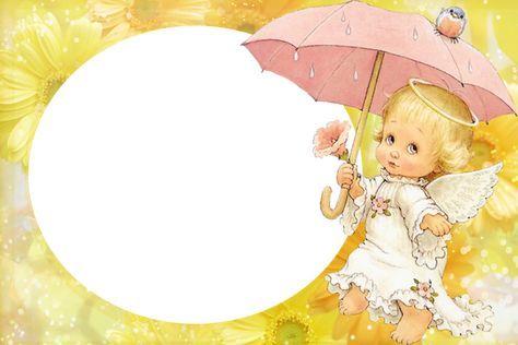Sárga Átlátszó gyerekek Frame aranyos Angel