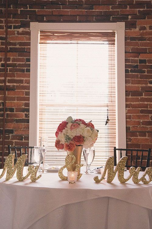 Waterfront Rooftop Wedding in St. Augustine, FL, Colorful Centerpieces | Brides.com