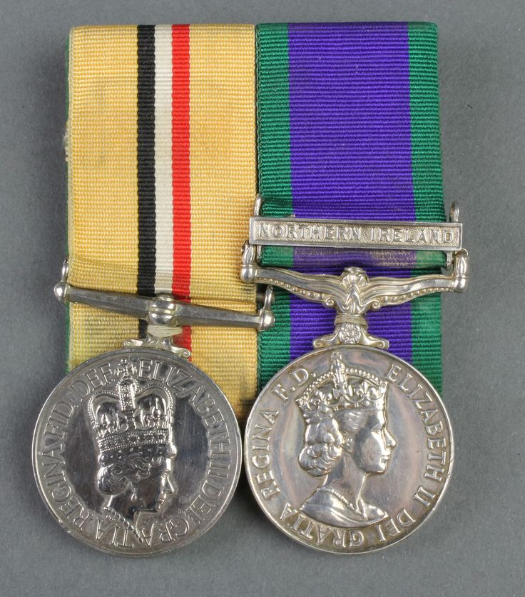 Lot 730, A pair of medals to 25159617 Pte. J Gilmour KOSB, Iraq medal and General Service medal with Northern Ireland bar, mounted, est £300-500