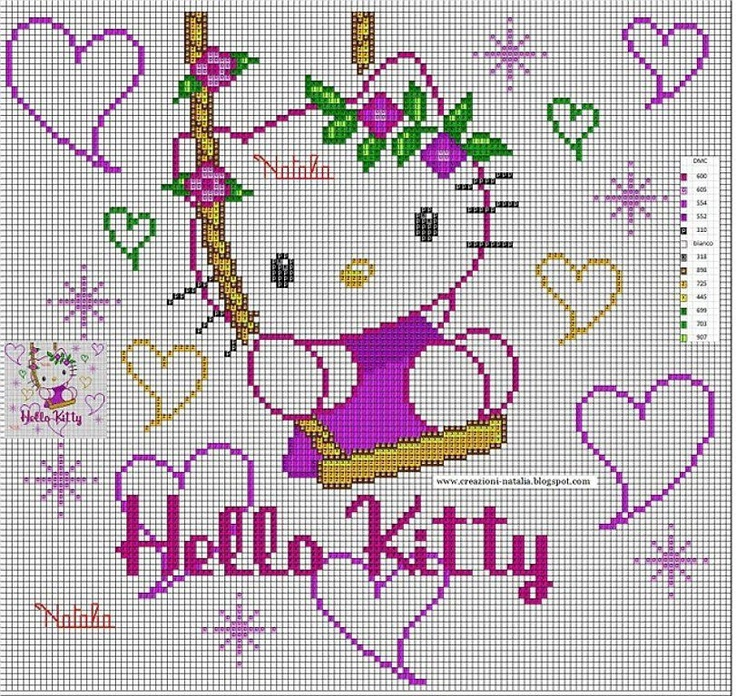 kitty swings among the hearts