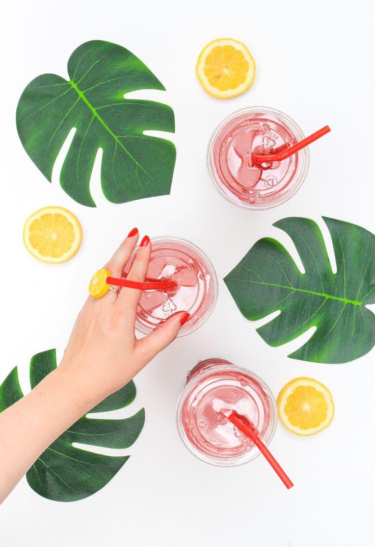 Lemon obsessed? Grab a Wendy's Blackberry Lemonade and make a matching DIY Lemon…