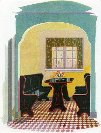 Best Breakfast Nooks Images On Pinterest S Kitchen Art - Craftsman bungalow kitchen breakfast nooks