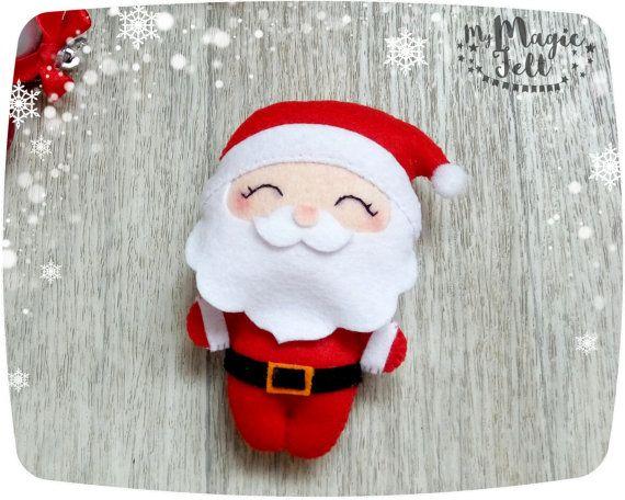 Christmas ornaments felt Santa ornament felt by MyMagicFelt
