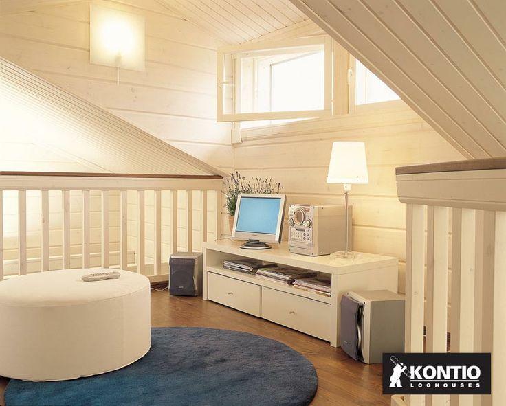 Utilisation de la mezzanine dans une maison en bois Kontio.