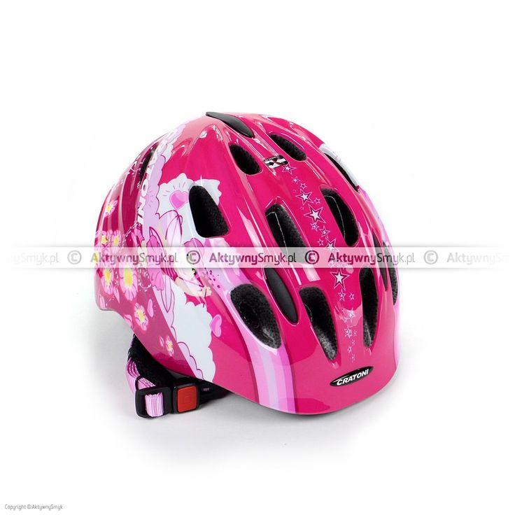 Kask dla dziecka Cratoni Akino 2 Fay pink-rose glossy