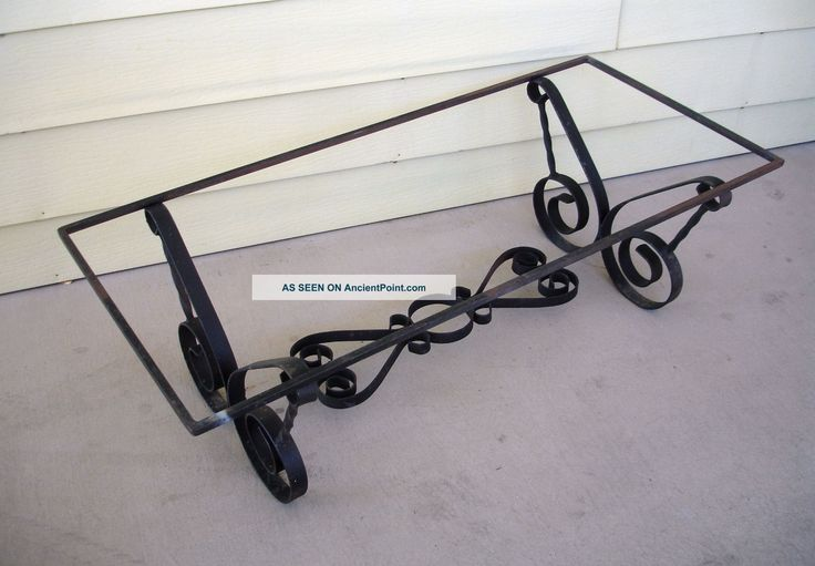 7 best wrought iron images on pinterest wrought iron for Wrought iron coffee table base