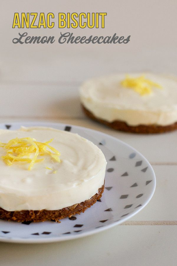 ANZAC Biscuit Lemon Cheesecakes - Love Swah