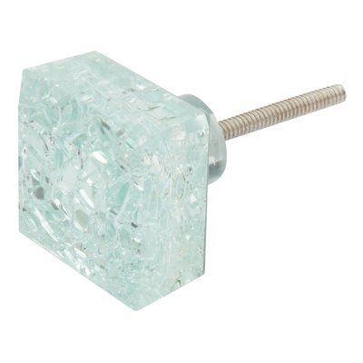 ArtisanalCreations Crackle Glass Square Knob