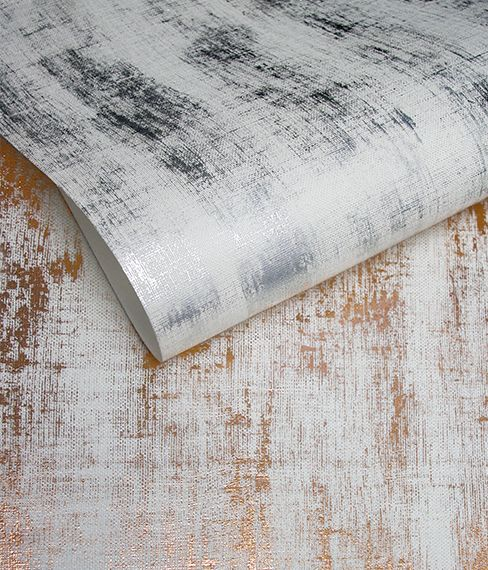 Silver and Copper Wallpaper by Meystyle. Conductivity Collection. Meystyle specialise in wall coverings with the added feature of integrated LED lights.